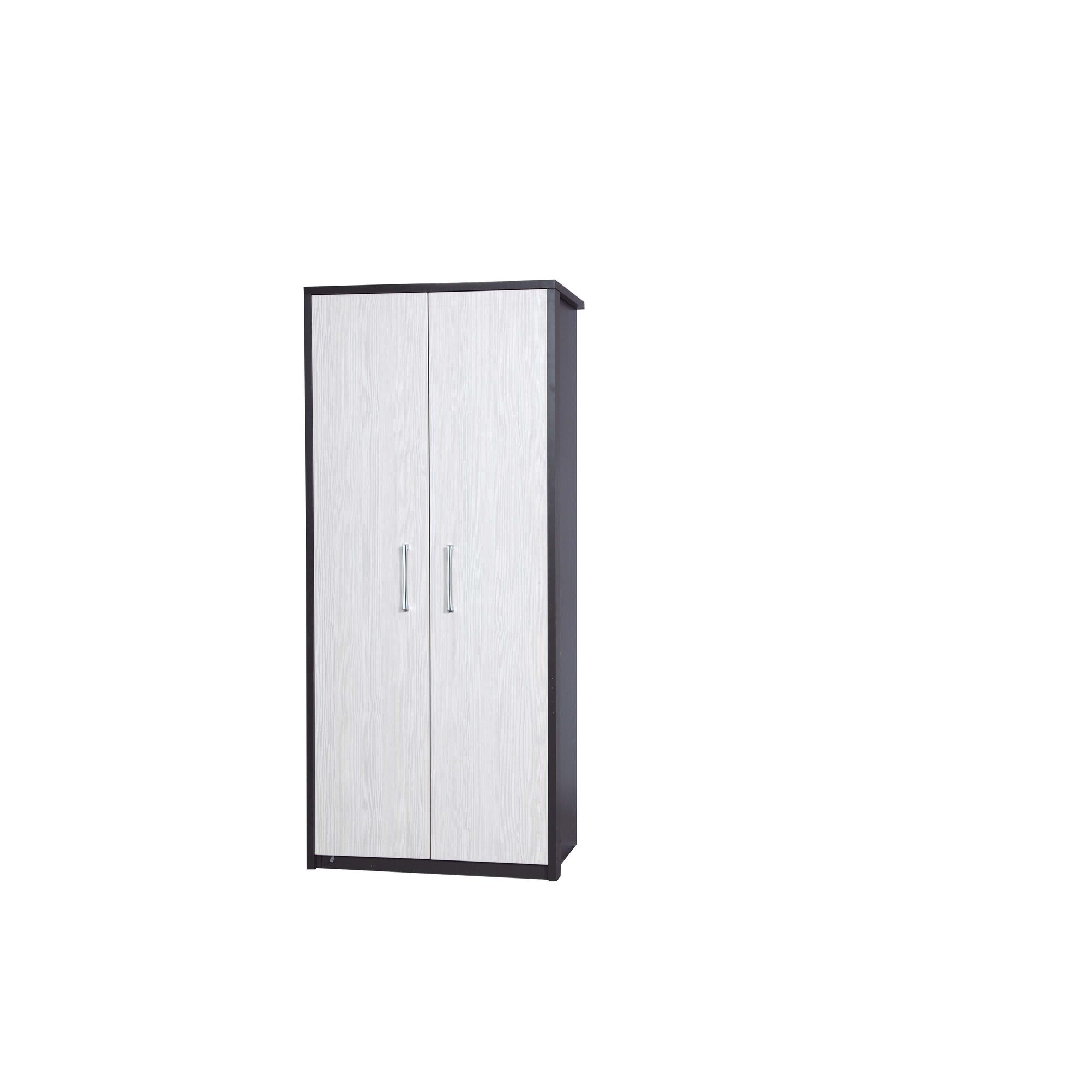 Alto Furniture Avola Double Wardrobe - Grey Carcass With White Avola at Tesco Direct