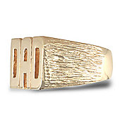 Jewelco London 9ct Solid gold premium weight Dad Ring