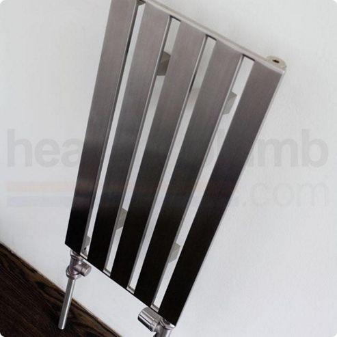 Aeon Supra Stainless Steel Designer Vertical Radiator 600mm High x 305mm Wide - Single Panel