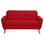 Capri Medium 2 Seater  Sofa, Red