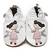 Olea London Soft Leather Baby Shoes Fairy - White