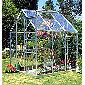 Europa Manor Countess Greenhouse – 5 x 6 - Natural Aluminium Finish – Toughened Glass