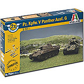 Italeri 7504 Pz Kpfw. V Panther Ausf.G (Fast Assembly) 1:72 Tank Model Kit