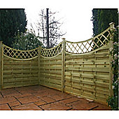 3FT Pressure Treated Concave Horizontal Weave + Trellis - 1 Panel Only 3'