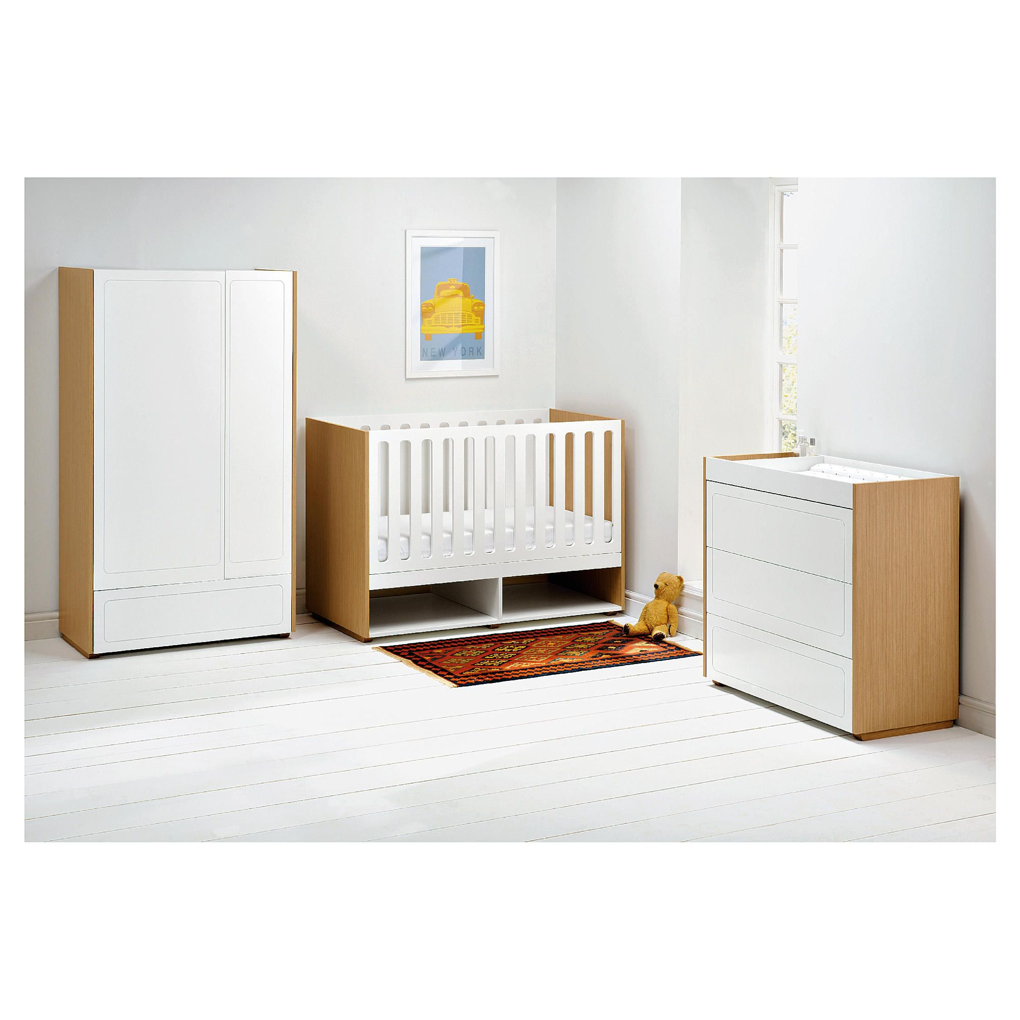 East Coast Monza 3 Piece Nursery Roomset at Tesco Direct