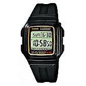 Casio Mens Resin Alarm Backlight Day Date Stopwatch Watch F-201WA-9AEF