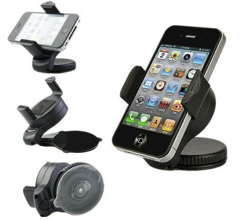 iTALKonline iHolder Case Compatible In Car Rotating Holder For Mobile Phones - Apple iPhone 5 (2012)