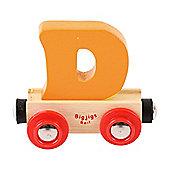 Bigjigs Rail Rail Name Letter D (Orange)