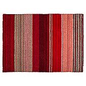 Tesco Thin Wool Stripe Rug 70X130, Red
