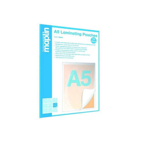 A5 Laminating Pouches 100-Pack