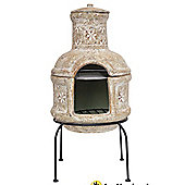 La Hacienda Star Flower Chimenea with Cooking Grill