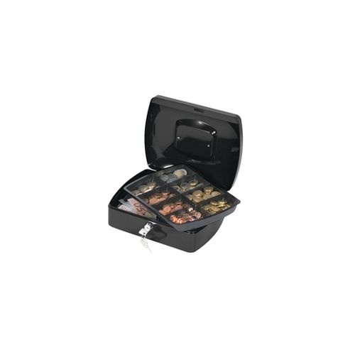 Q Connect 10 inch Cash Box Black