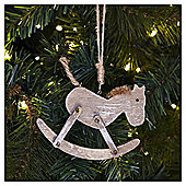 Weiste Wooden Rocking Horse Christmas Tree Decoration