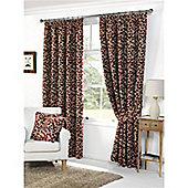 Woodleigh Pencil Pleat Curtains 117 x 137cm - Red