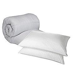 Double Duvet 13.5 Tog Polycotton And Hollowfibre Pillow Pair