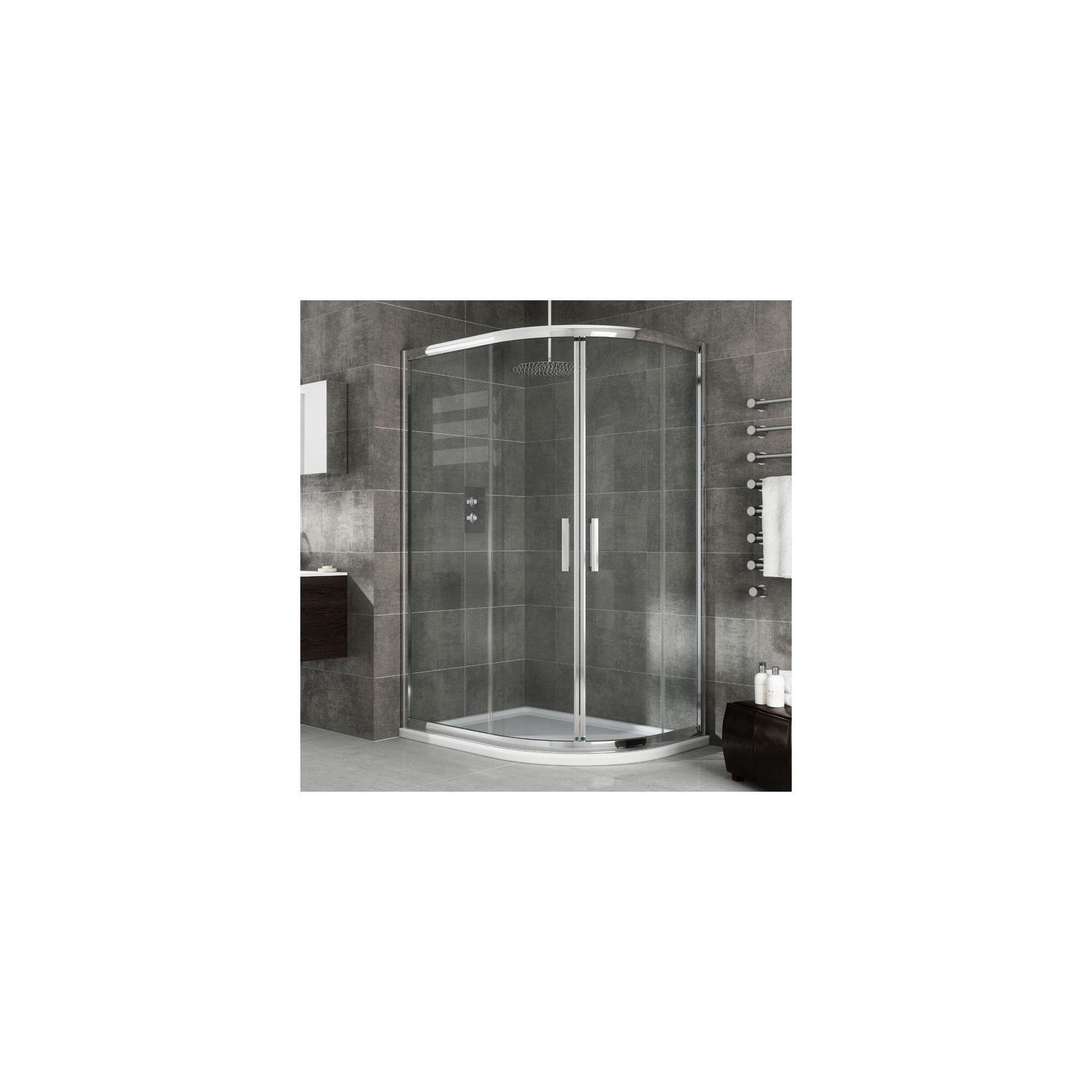 Elemis Eternity Two-Door Offset Quadrant Shower Door, 1200mm x 800mm, 8mm Glass at Tesco Direct