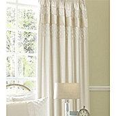 Catherine Lansfield Classique Curtains 66x72cm Cream