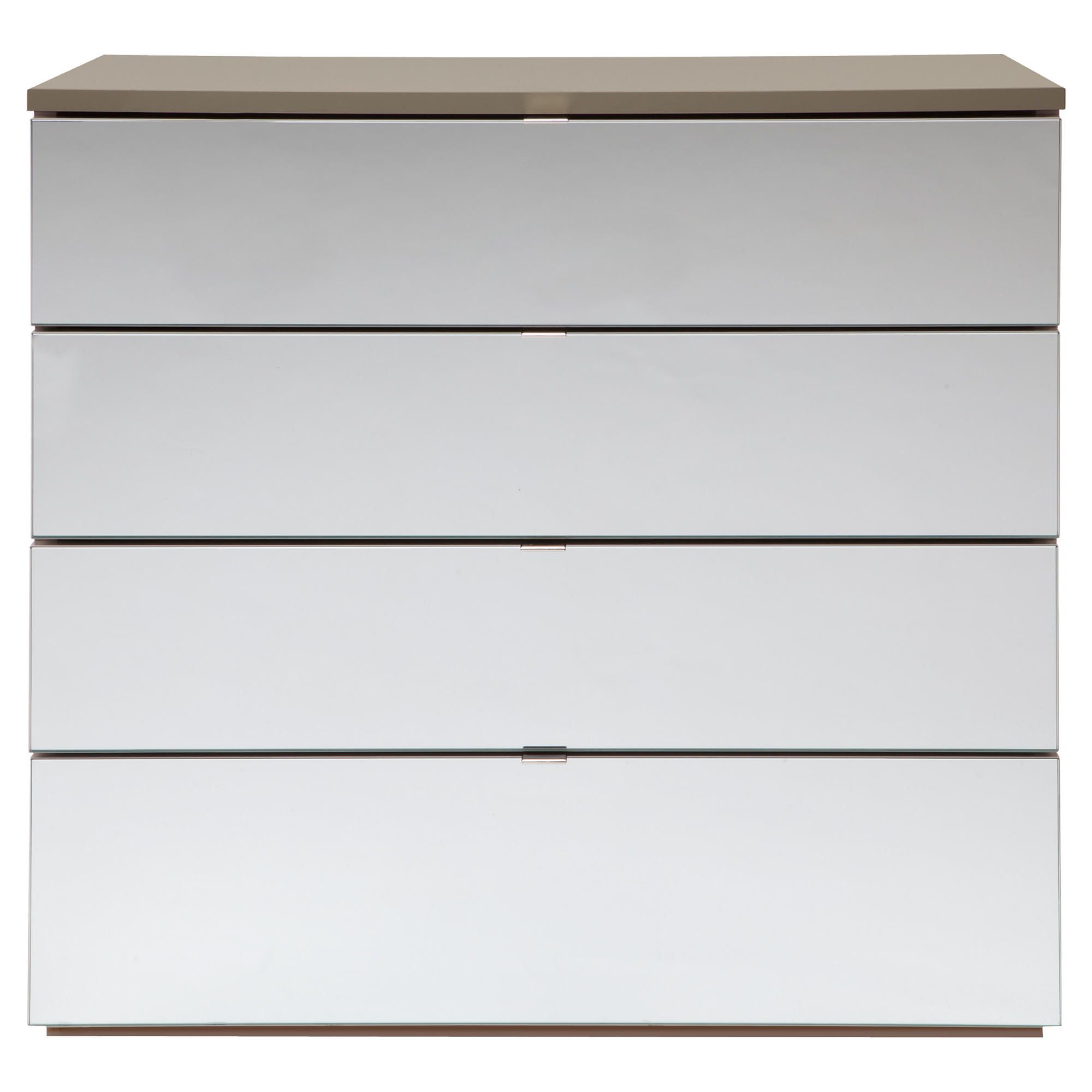 Palermo 4 Drawer Chest Taupe Mirrored at Tesco Direct
