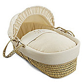 Clair de Lune Palm Moses Basket (Stardust Cream)
