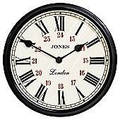 Jones & Co Picadilly Clock, Black