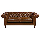 Chesterfield Medium 3 Seater  Sofa, Antique Saddle