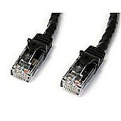 STARTECH - 0.5m Black Gigabit Snagless RJ45 UTP Cat6 Patch Cable - 0.5m Patch Cord