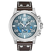 CAT Mens Leather Chronograph Date Watch PS.143.35.338