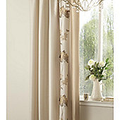 Catherine Lansfield Home Signature Rich Floral Curtains Natural 168cm wide x 183cm drop (66x72 inches)