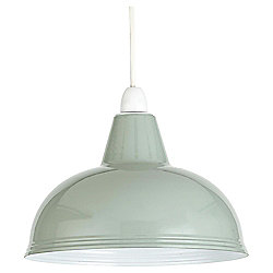 Thorpness Small Metal Pendant Shade, Sage Green