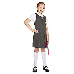 F&F School Girls Permanent Pleat Pinafore