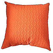 Homescapes Ultrasonic Orange Quilted Embossed Filled Cushion, 80 x 80 cm