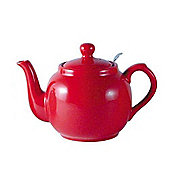 London Pottery Farmhouse Filter Teapot, 4 Cup, Red