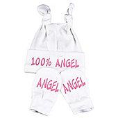 Spoilt Rotten - Angel Baby Knot Hat & Scratch Mits Baby Set