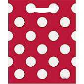 Red Polka Dot Party Bags - Plastic Loot Bags
