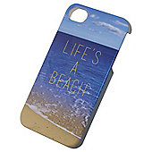 Tortoise™ Hard Protective Case, iPhone 4/4S, Blue, Lifes A Beach