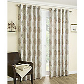 Mulberry Copper Interlined Eyelet Curtains - Terracotta