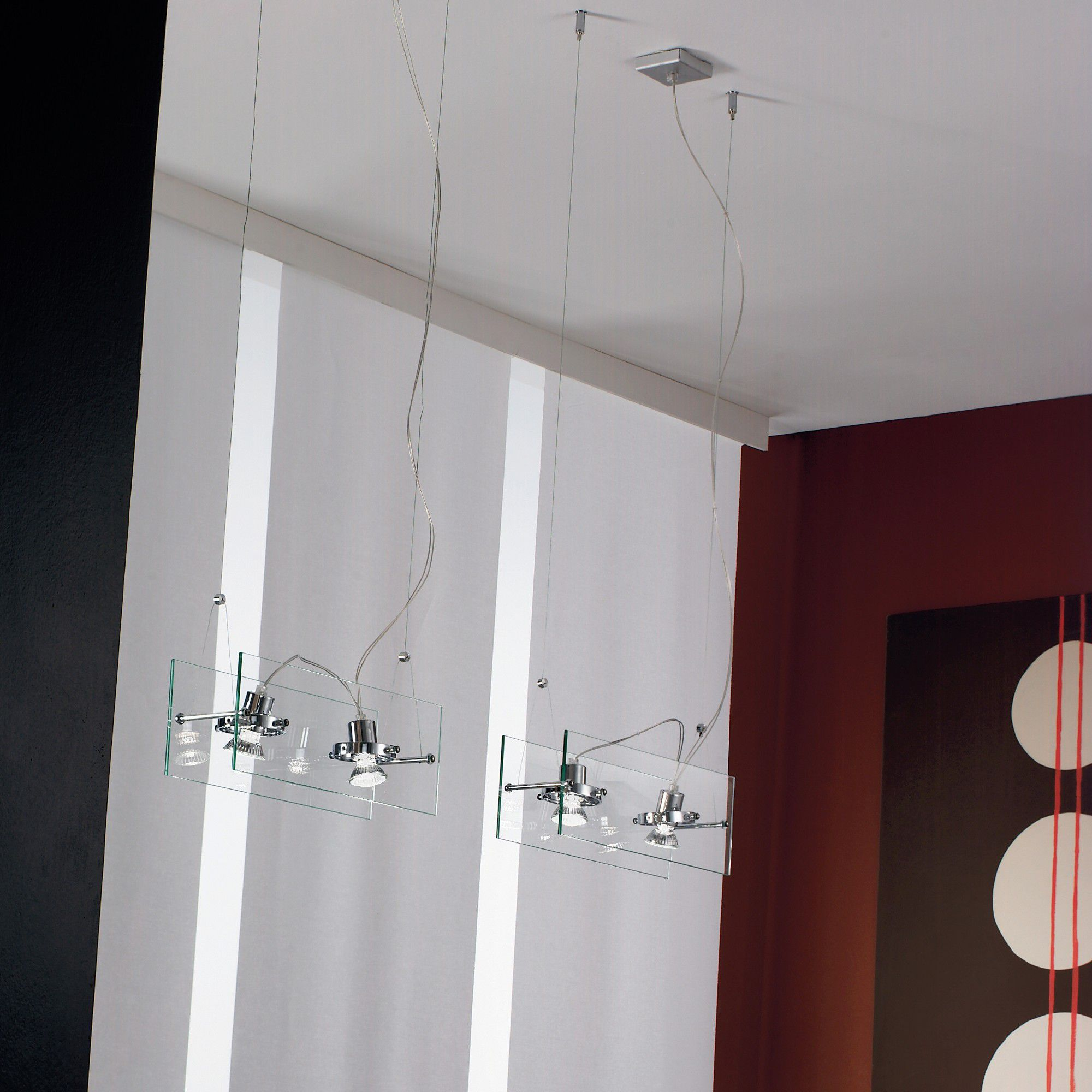Linea Light Orbis Double Pendant Spot Light In Chrome