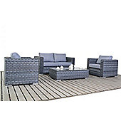 Luxan WGF-1505 Platinum Small Sofa Set - Grey