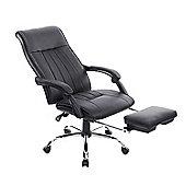 Homcom High Back Office Chair Swivel Reclining Adjustable (Black)