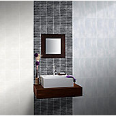 Home City Charcoal Mosaic Wall Ceramic Tile 248x398mm Box of 10 (0.99 M² / Box)