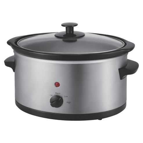 Tesco, Slow Cooker, SCSS12, 3L - Silver