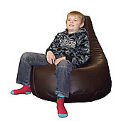 Ashcroft Indoor Large Bean Bag Gaming Chair - Brown