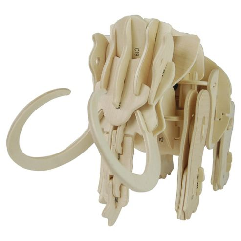 Green Board Game Co. Robotic Mammoth Wooden Craft Kit