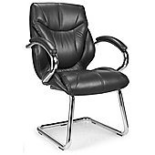 Enduro Medium Back Visitor Chair with Chrome Cantilever - Tan