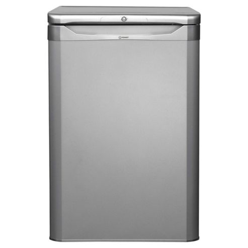 Indesit TLAA10S130 Fridge, A+ Energy Rating, Silver, 55cm