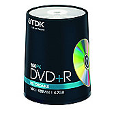 TDK DVD+R's 4.7 GB 16X 100 Tub