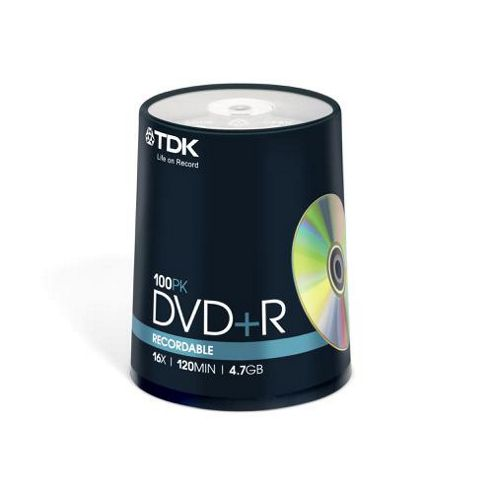 TDK DVD-R 4.7 GB 16X 100 Tub