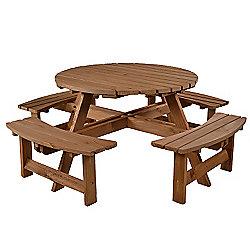 York 8 seat Round Picnic Table