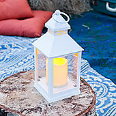 White Battery Outdoor LED Candle Lantern