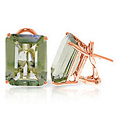 QP Jewellers 13.0ct Green Amethyst Auroral Stud Earrings in 14K Rose Gold